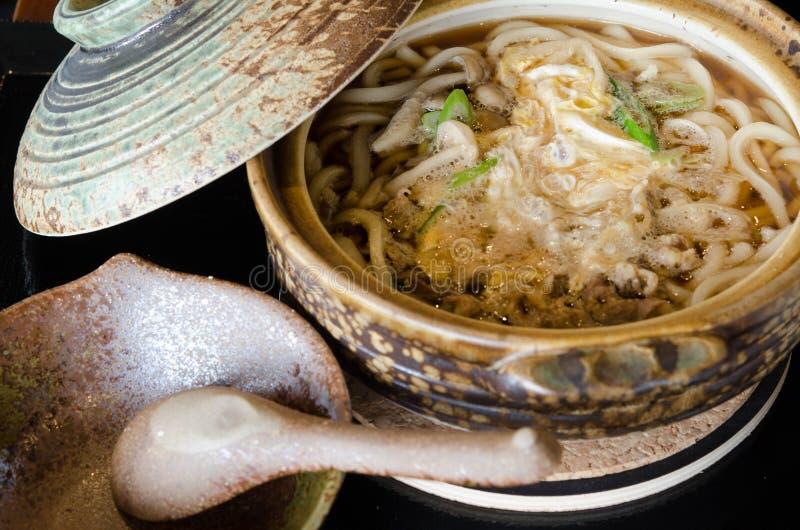 Tradycyjny Japońskiego stylu kluski, Udon zdjęcie royalty free