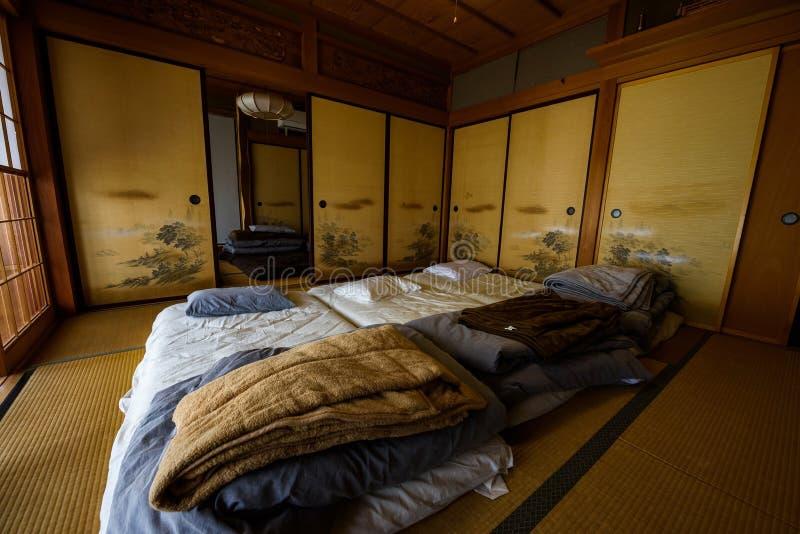 Tradycyjny Japońskiego stylu pokój & x28; Ryokan& x29; obrazy stock