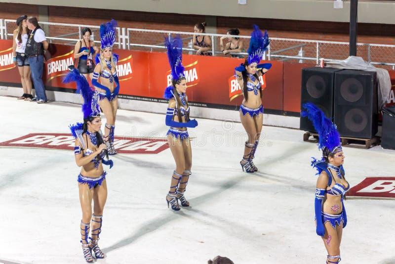 Tradycyjny karnawał w Encarnacion, Paraguay fotografia stock