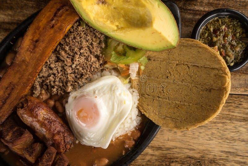 Tradycyjny Kolumbijski jedzenie obraz stock