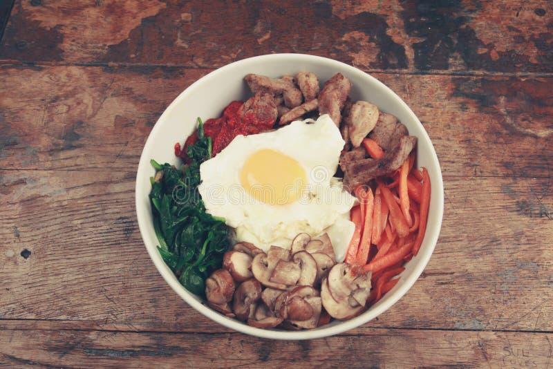 Tradycyjny Koreański naczynia Bibimbap zdjęcie stock