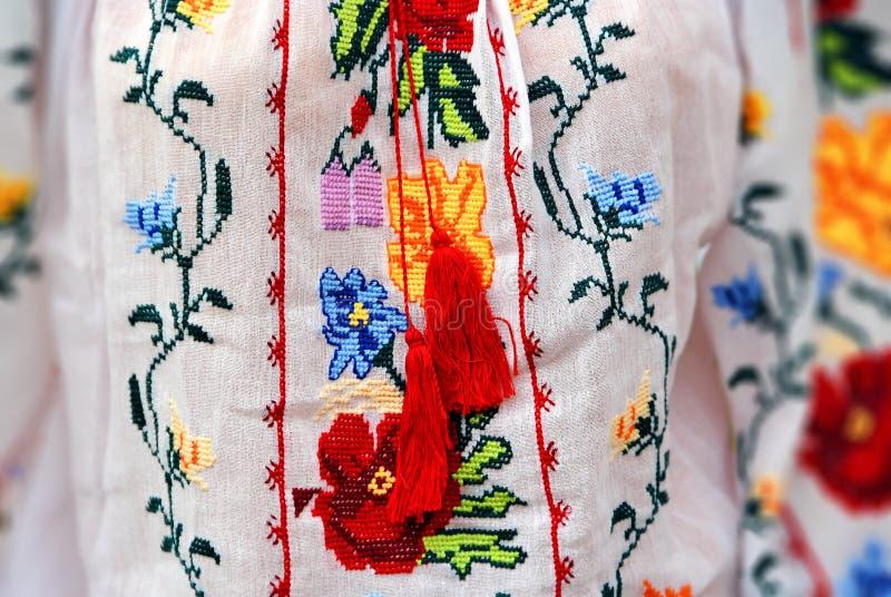 Tradycyjny kostium w Rumunia zdjęcia royalty free