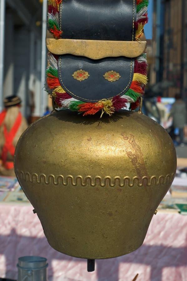 tradycyjny krowa dzwonkowy szwajcar obraz stock