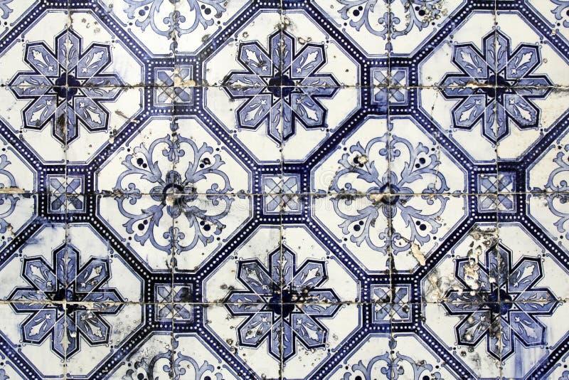 Tradycyjny Lisbon tafluje tło obraz stock
