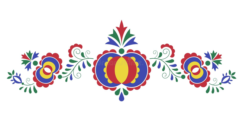 Tradycyjny ludowy ornament Morawski ornament ilustracji