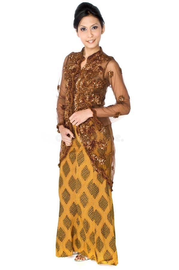 Tradycyjny Malajski Kostium fotografia royalty free