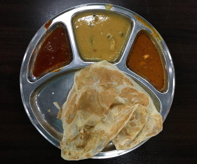Tradycyjny Malezyjski Indiański karmowy Roti Canai obrazy stock