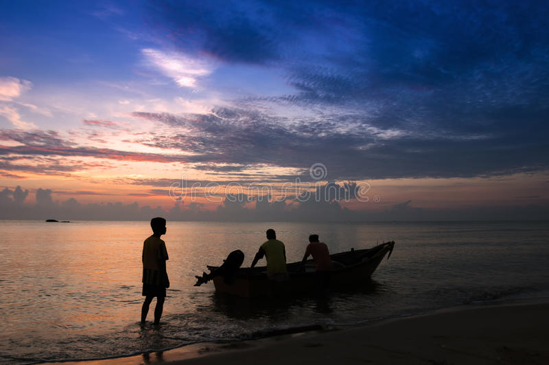Tradycyjny Malezyjski rybak zdjęcia royalty free