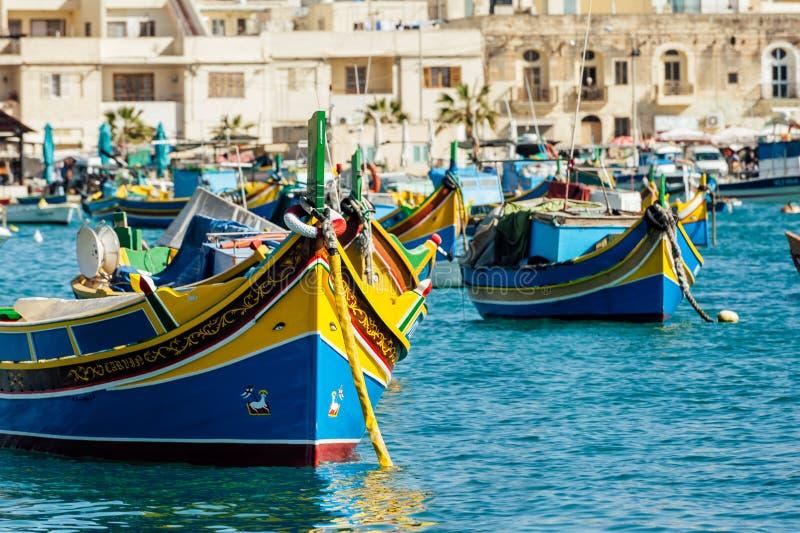 Tradycyjny Maltański luzzu zdjęcie stock