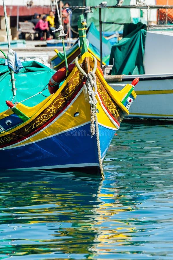 Tradycyjny Maltański luzzu zdjęcia stock