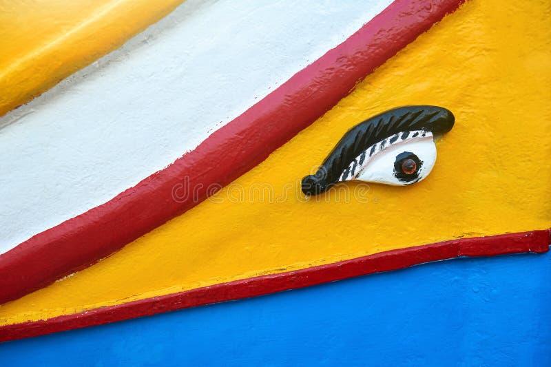 Tradycyjny maltese łódkowaty luzzu szczegół obraz royalty free