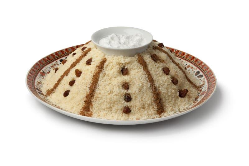 Tradycyjny Marokański słodki couscous zdjęcia stock