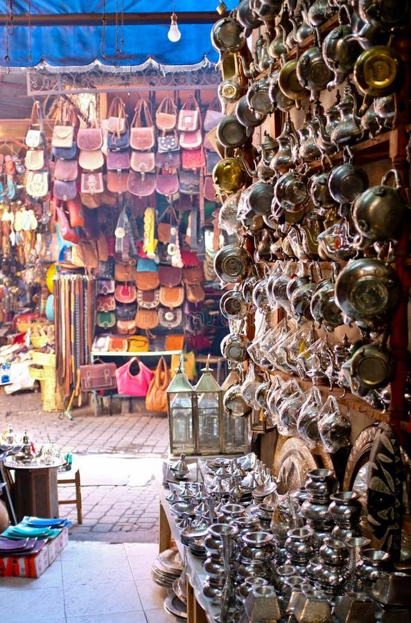 tradycyjny Marrakech targowy souk obraz royalty free