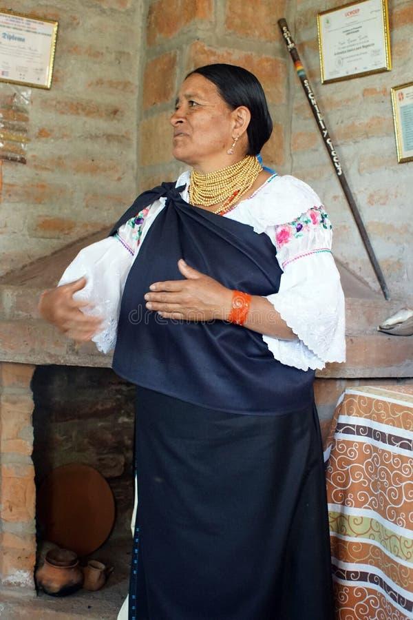 Tradycyjny midwive w Ekwador obraz royalty free