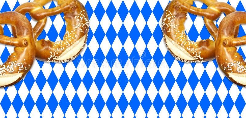 Tradycyjny niemiecki bavarian festiwal Oktoberfest z precli, piwa i miodownika sercem, obrazy royalty free