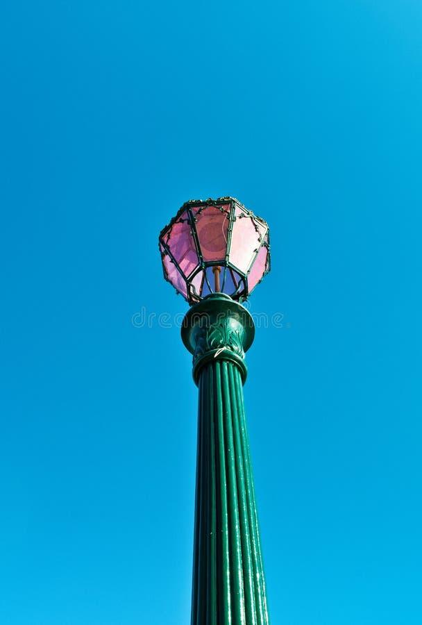 Tradycyjny obsady żelaza lamppost, Wenecja, Włochy zdjęcie royalty free