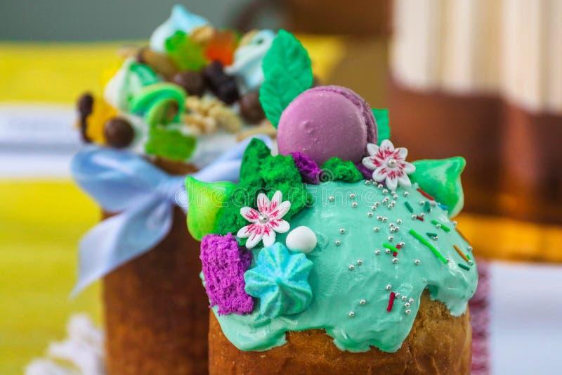 Tradycyjny ortodoksyjny Easter chleb Pasek obrazy stock