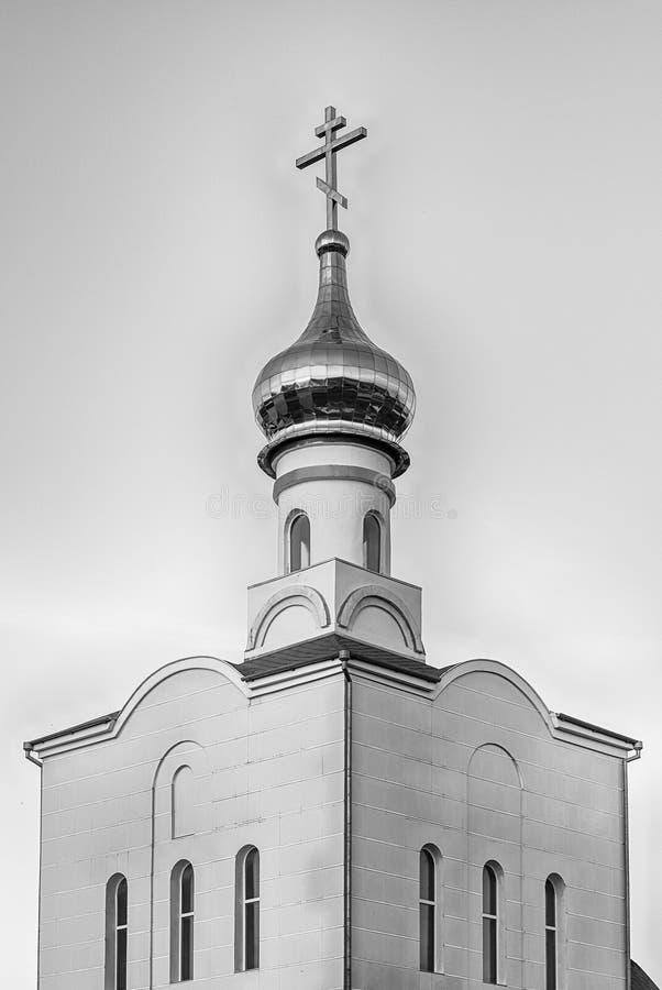 Tradycyjny ortodoksyjny kościół w Frunze, mała wioska w Crimea obrazy royalty free