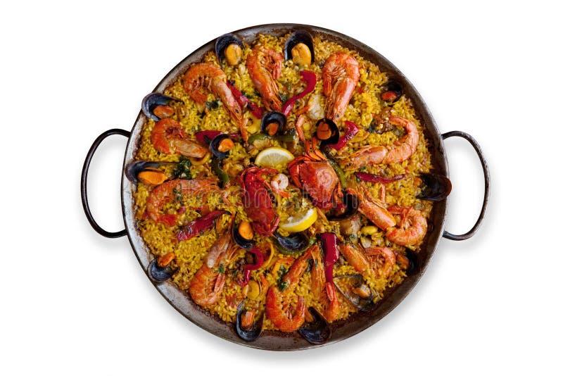 tradycyjny paella odosobniony spanish obraz royalty free