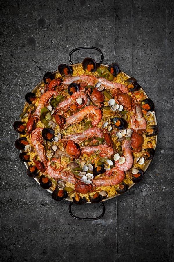 tradycyjny paella spanish zdjęcie royalty free