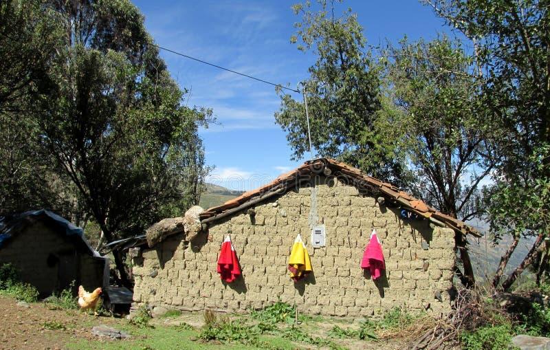 Tradycyjny peruvian wioski dom zdjęcia stock