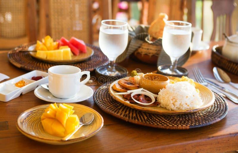 Tradycyjny Philippino śniadanie zdjęcie royalty free