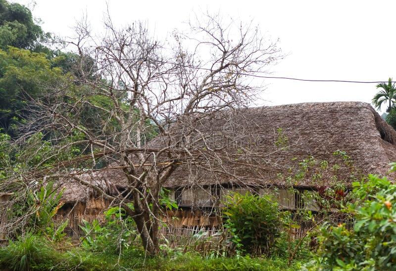 Tradycyjny podwyższony dom ten czaruje domu pobyt należy lokalna Tay rodzina zdjęcie stock