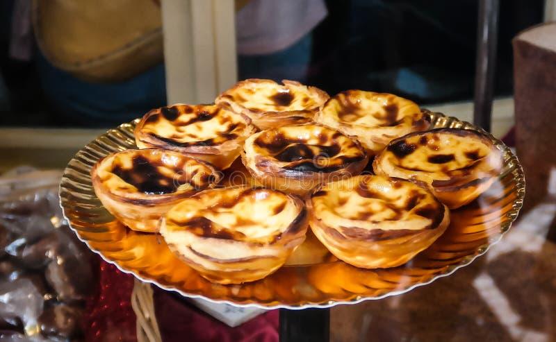 Tradycyjny Portugal tort aka Pasteis De Belem, Lisbon zdjęcia royalty free