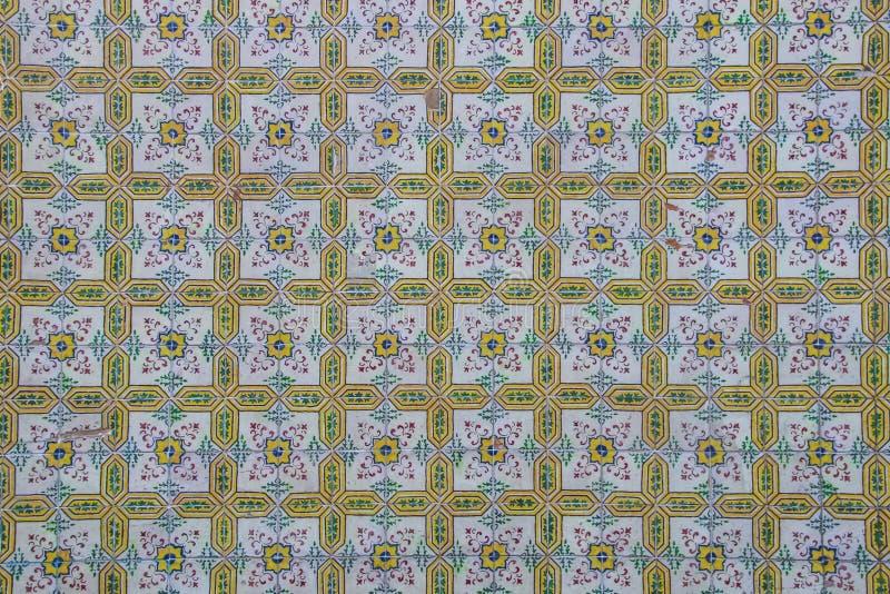 Tradycyjny Portugalski ceramicznych płytek azulejo tło od azulejo zdjęcia stock