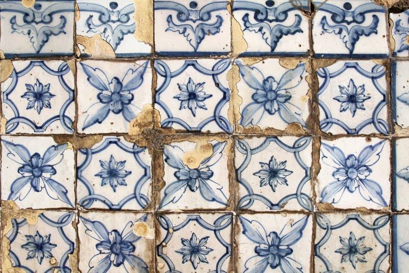 Tradycyjny portugese płytki tło obrazy stock