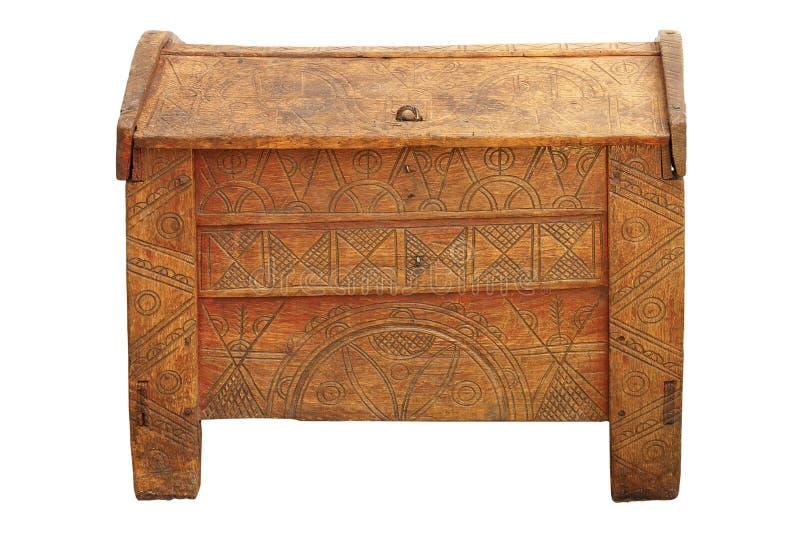 Tradycyjny posagowy kaseton robić dębowy drewno obrazy stock