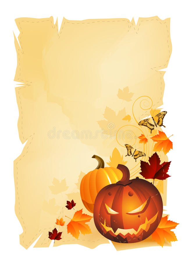 tradycyjny ramowy Halloween ilustracja wektor