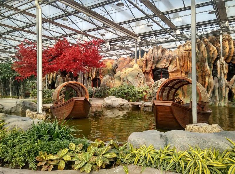 Tradycyjny salowego ogródu krajobraz zdjęcie royalty free