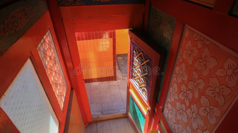 Tradycyjny salowy Labuleng świątynia, południe Gansu, Chiny zdjęcia stock
