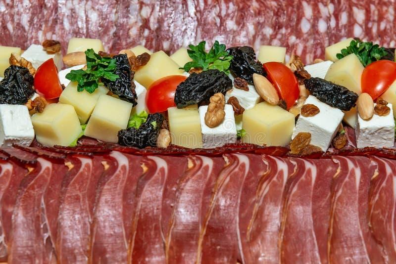 Tradycyjny smakosz Garnirujący zakąska cząberu naczynie Meze obrazy royalty free