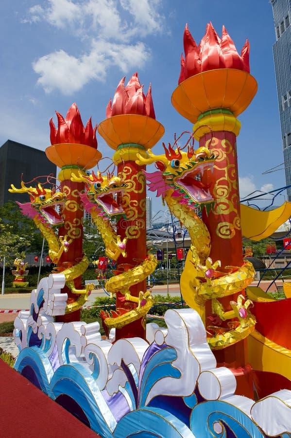 tradycyjny smoka chiński lampion zdjęcie stock