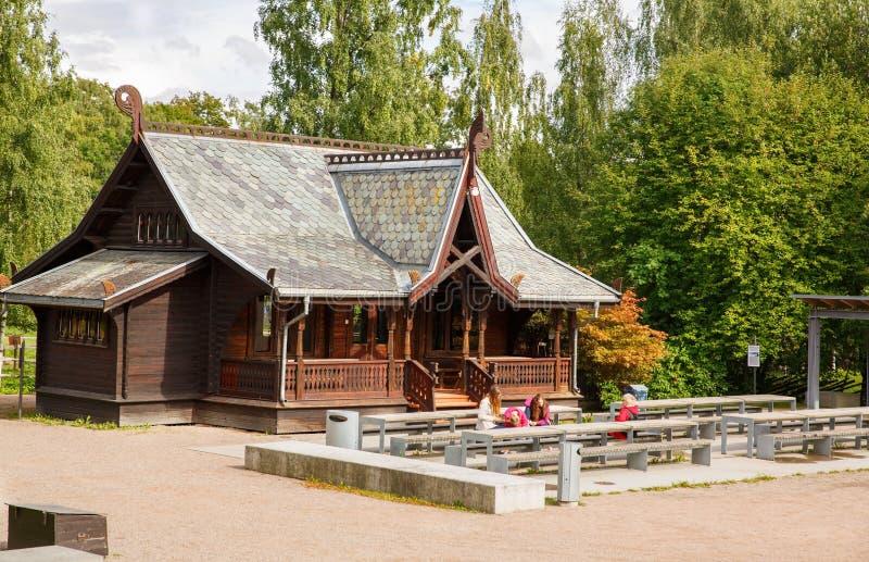 Tradycyjny stary dom w Oslo obrazy stock