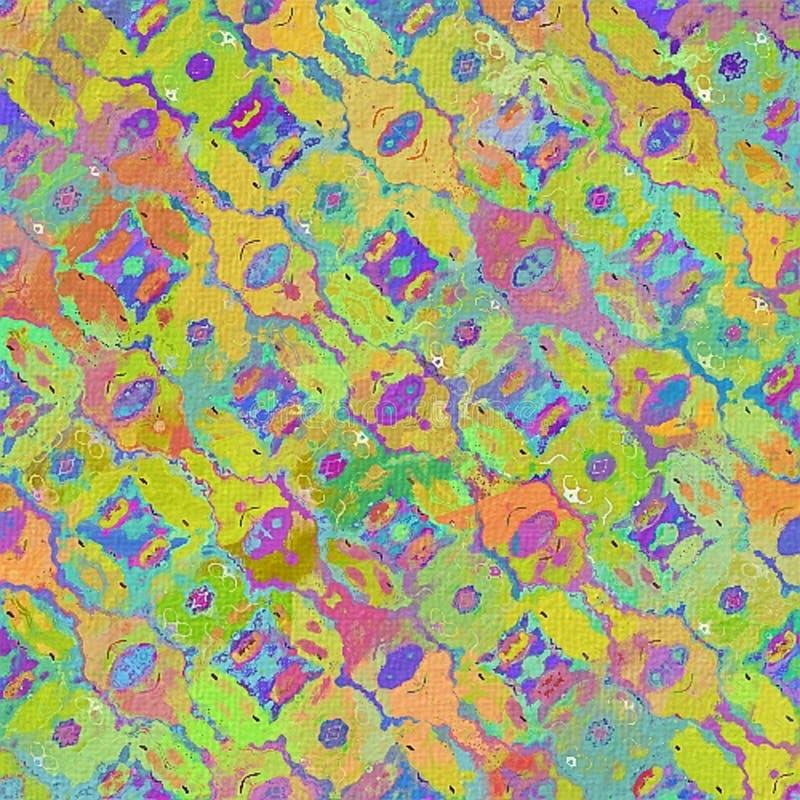 Tradycyjny szczotkarski obrazu motyw na szorstkiej kanwie lub textured papierze Delikatny zamazany ilustracja wektor