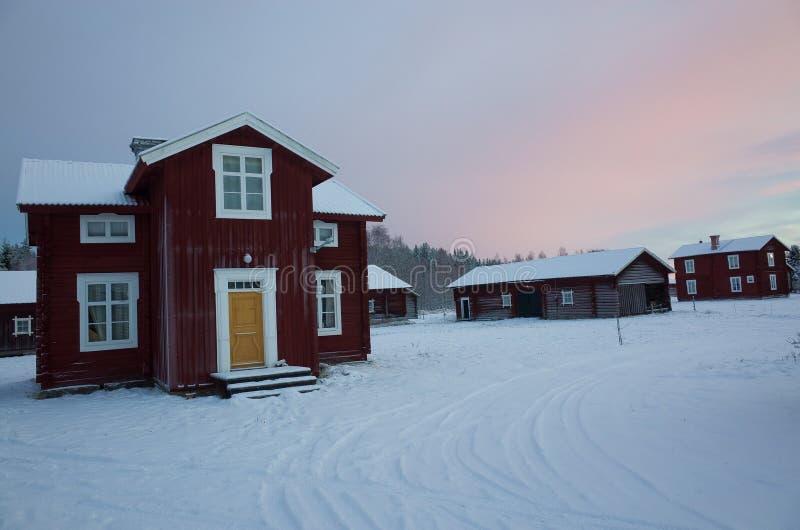 Tradycyjny szwedzi gospodarstwo rolne zdjęcia stock