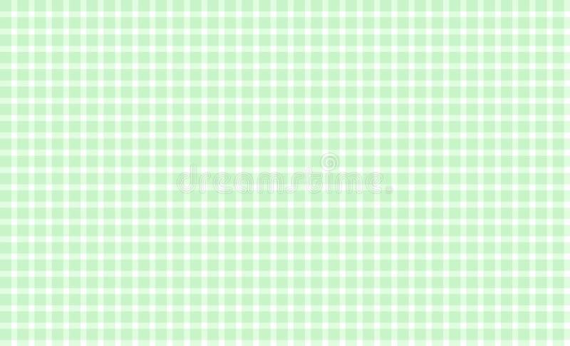 Tradycyjny tablecloth tła zieleni biel