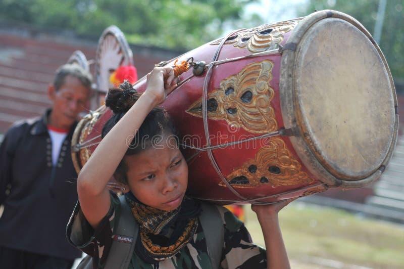 Tradycyjny taniec od Jawa zdjęcia stock