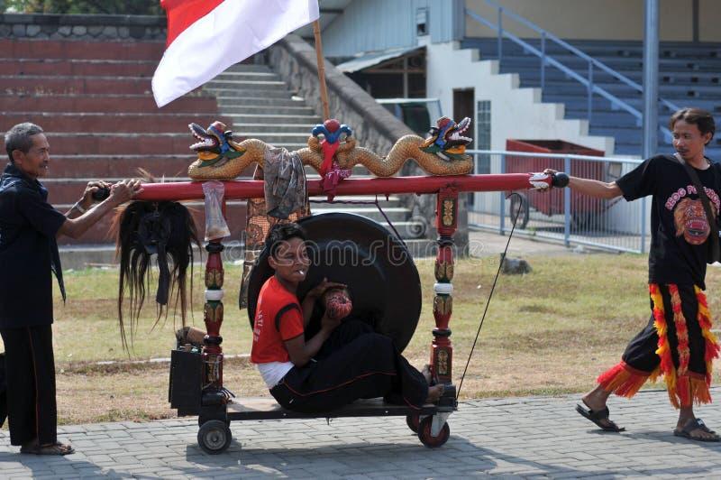Tradycyjny taniec od Jawa obraz royalty free
