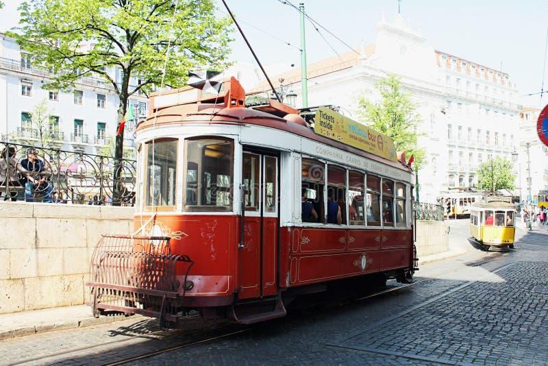 Tradycyjny tramwaj w Lisbon zdjęcie stock