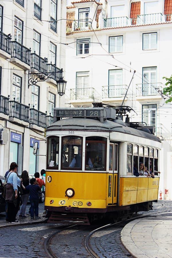 Tradycyjny tramwaj w Lisbon fotografia stock