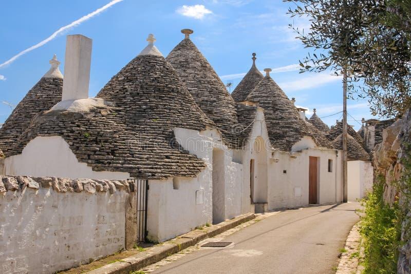 Tradycyjny Trulli Alberobello Apulia Włochy obrazy stock