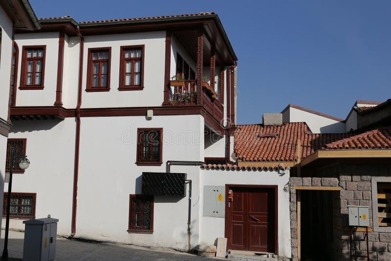 Tradycyjny turecczyzna dom w Ankara mieście zdjęcia stock