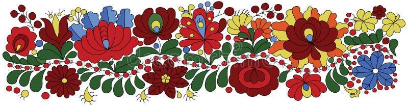 Węgierski broderia wzór ilustracji