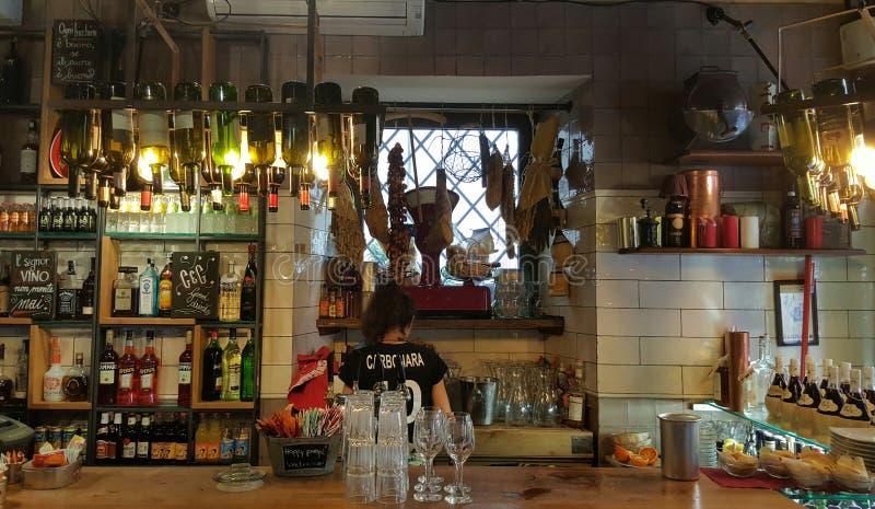 Tradycyjny włoszczyzna bar obrazy stock
