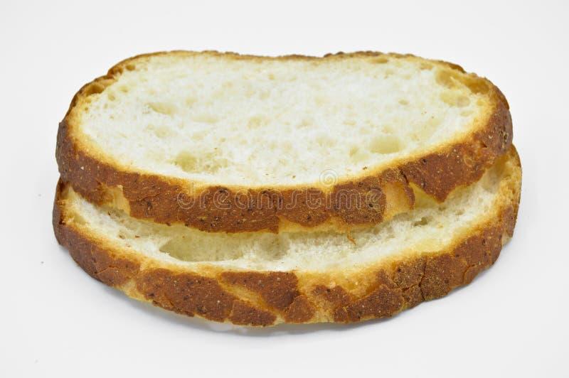 Tradycyjny ?wie?y i smakowity bia?ego chleba plasterek Skorupa, ciie zdjęcie stock
