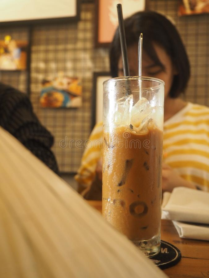 Tradycyjny Wietnamski kawy mleko zdjęcia stock
